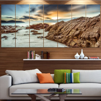 Designart Quang Ninh Province Vietnam Landscape Canvas Art Print - 6 Panels