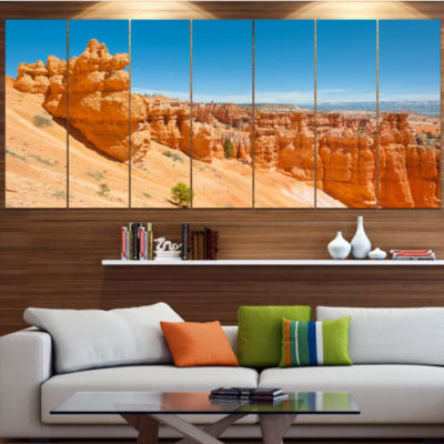 Designart Beautiful Bryce Canyon Landscape CanvasArt Print- 4 Panels