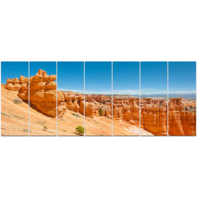 Designart Beautiful Bryce Canyon Landscape CanvasArt Print- 7 Panels