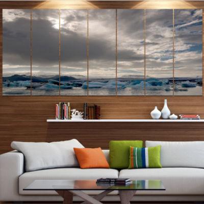 Designart Ice Of Jokulsarlon Lagoon Landscape Canvas Art Print - 6 Panels