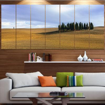 Vacant Tuscan Landscape Landscape Canvas Art Print- 6 Panels