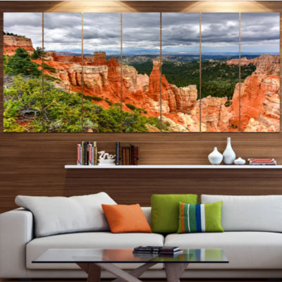 Design Art Bryce Canyon National Park Landscape Canvas Art Print - 6 Panels