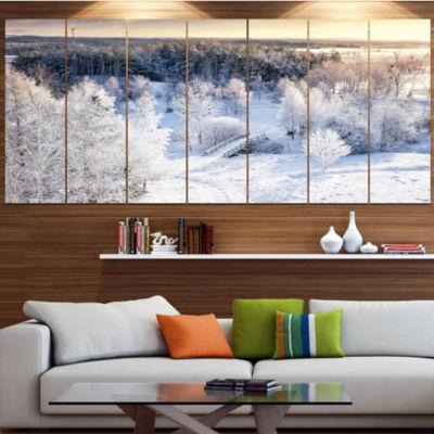 Designart Beautiful Winter Panorama Large Landscape Canvas Art Print - 6 Panels