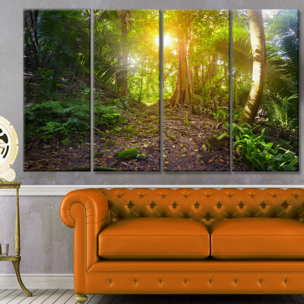 Designart Archaeological Park Cebal Guatemala Landscape Canvas Art Print - 4 Panels