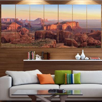 Designart Hunts Mesa Panorama Landscape Canvas ArtPrint - 4Panels