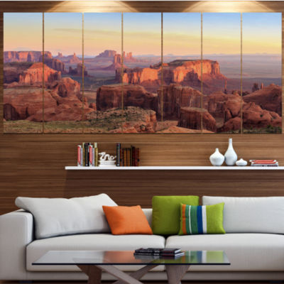 Designart Hunts Mesa Panorama Landscape Canvas ArtPrint - 6Panels