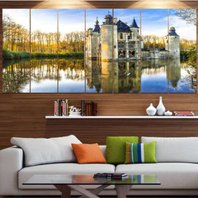 Design Art Fairytale Medieval Castles Landscape Canvas Art Print - 6 Panels