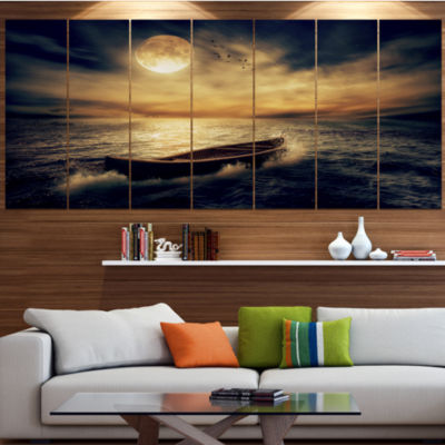 Designart Middle Of Ocean After Storm Floral Canvas Art Print - 6 Panels