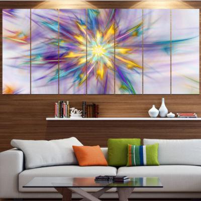Designart Large Exotic Colorful Flower Large Floral Canvas Art Print - 5 Panels