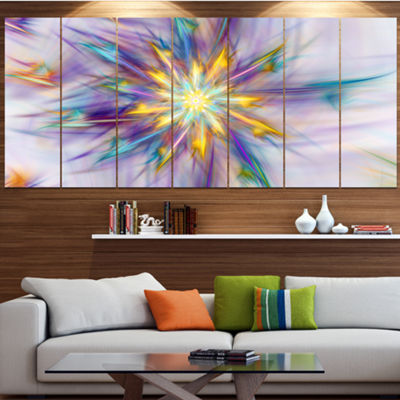 Designart Large Exotic Colorful Flower Floral Canvas Art Print - 6 Panels