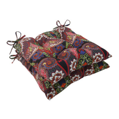 Pillow Perfect Wrought Iron Seat Cushion (Set of 2)