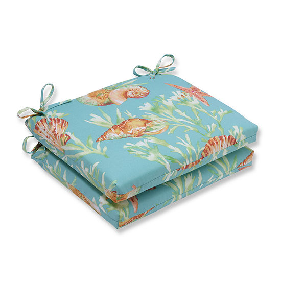 Pillow Perfect Squared Corners Seat Cushion Set Of 2