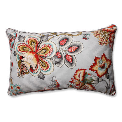 Pillow Perfect Bespoke Blossoms Mineral/Oxford Charcoal Throw Pillow