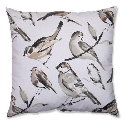 Pillow Perfect Bird Watcher Charcoal Pillow