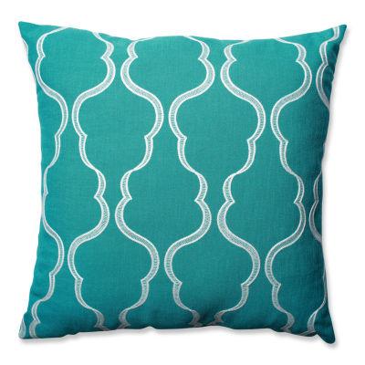 Pillow Perfect Cassie Aqua 24.5-inch Floor Pillow