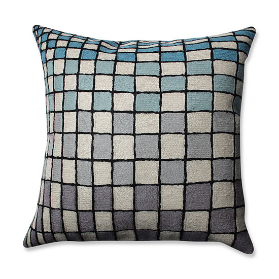Pillow Perfect Checker Board 16.5-inch Throw Pillow