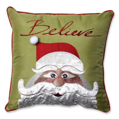 Pillow Perfect Christmas Santa Believe 18-inch Throw Pillow