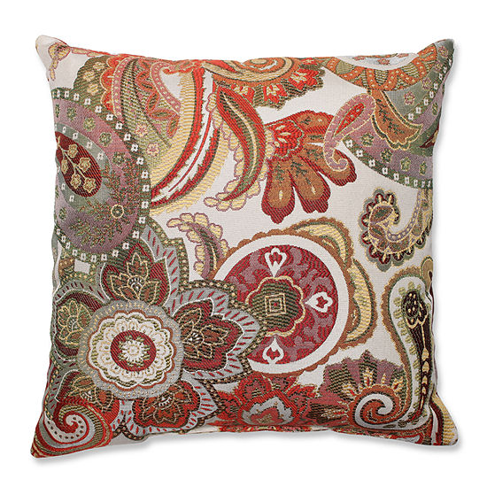 Pillow Perfect Crazy Rosewood Throw Pillow