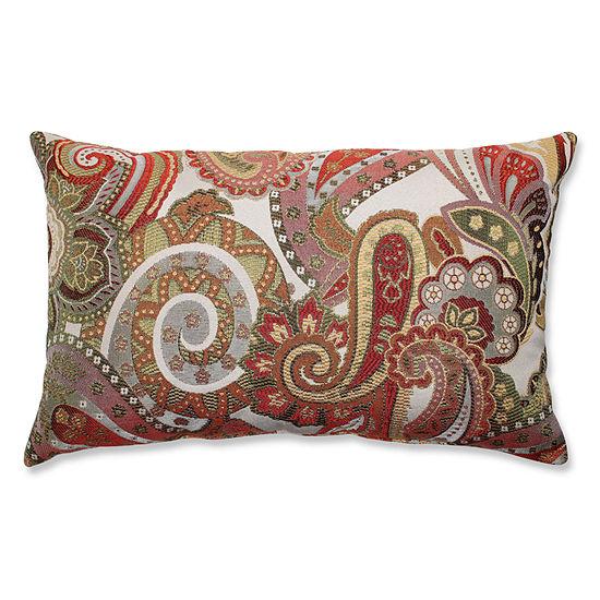 Pillow Perfect Crazy Rosewood Throw Pillow