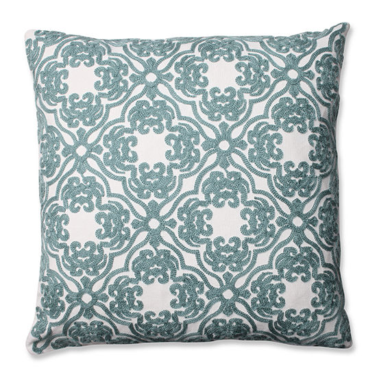 Pillow Perfect Embroidered Damask 16.5-inch Throw Pillow