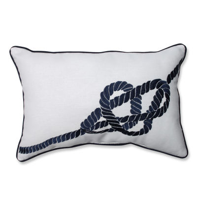 Pillow Perfect Embroidered Geometric Rectangular Throw Pillow