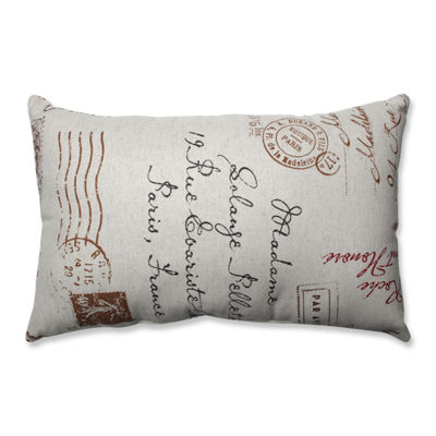 Pillow Perfect French Postale Throw Pillow