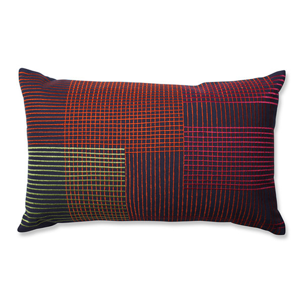 Pillow Perfect Graphic Lines Multi Rectangular Throw Pillow