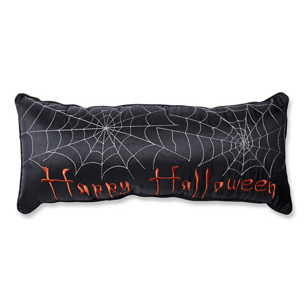 Pillow Perfect Happy Halloween Black Rectangular Throw Pillow