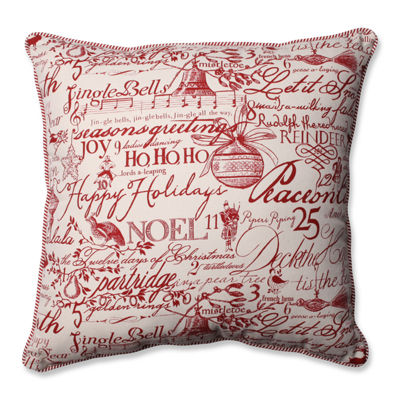 Pillow Perfect Holiday Poinsettia Pillow