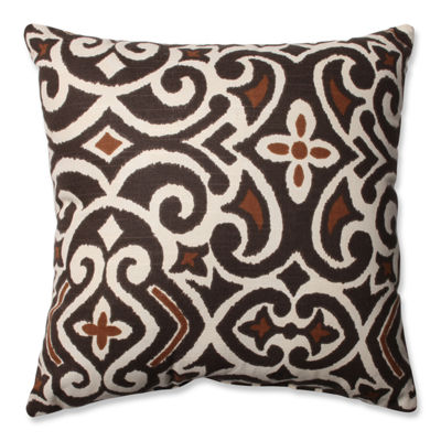 Pillow Perfect Lace It Up Ebony Pillow