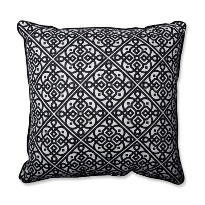 Pillow Perfect Lace It Up Ebony Pillow