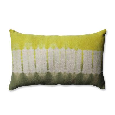 Pillow Perfect Shibori Bands Rectangular Throw Pillow