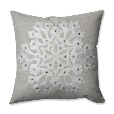 Pillow Perfect Snowflake 16.5-inch Throw Pillow