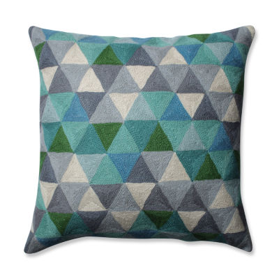 Pillow Perfect Triangle Grid 16.5-inch Throw Pillow