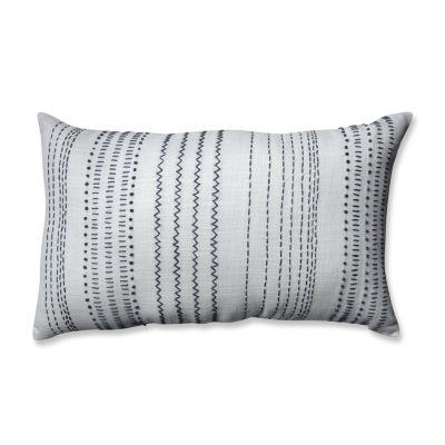 Pillow Perfect Tribal Stitches Rectangular Throw Pillow
