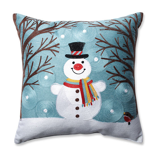 Pillow Perfect Winter Wonderland Frost 165 Inch Throw Pillow