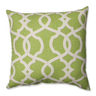 Pillow Perfect Lattice Damask Pillow