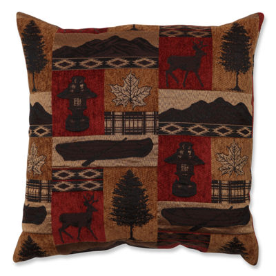 Pillow Perfect Redstone Lodge 18-inch Throw Pillow