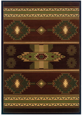 United Weavers Contours Carleo Entertainment Management Collection Native Canvas Rectangular Rug