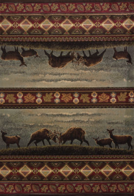 United Weavers Contours Carleo Entertainment Management Collection Native Landscape Rectangular Rug