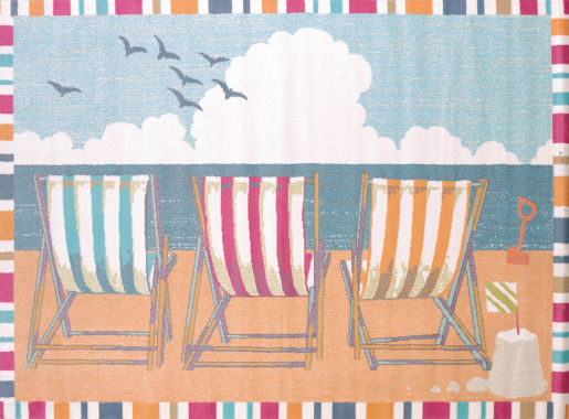 United Weavers Regional Concepts Collection Seaside Chairs Rectangular Rug