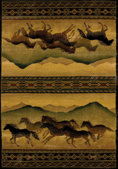 United Weavers Genesis Collection Chestnut Mare Rectangular Rug
