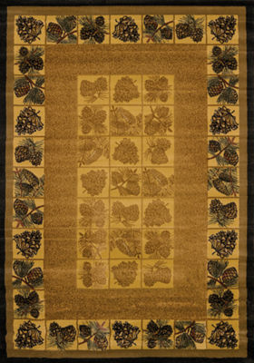 United Weavers Genesis Collection Pine Cones Rectangular Rug