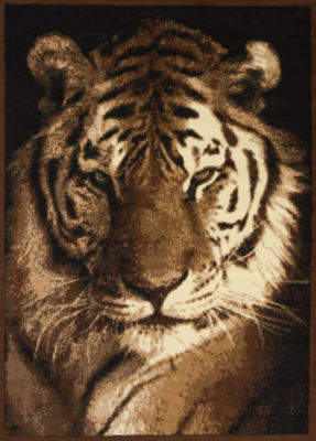 United Weavers Legends Collection Tiger Portrait Rectangular Rug