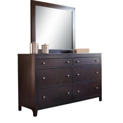 Devon & Claire Aria 6-Drawer Dresser And Wall Mirror Set