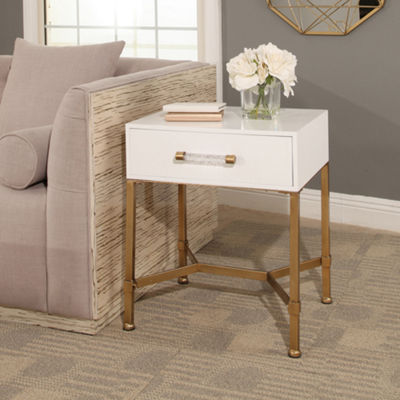 Devon & Claire Penelope Gold Iron End Table