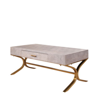 Devon & Claire Arlong Shagreen Leather Coffee Table