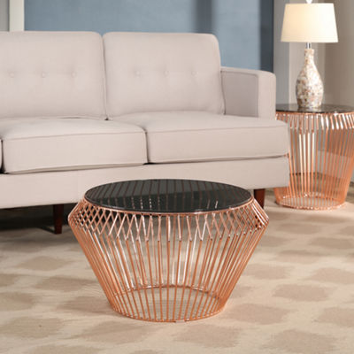 Devon & Claire Taffoli Stainless Steel Coffee Table