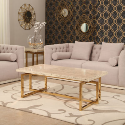 Devon & Claire Archie Stainless Steel Coffee Table