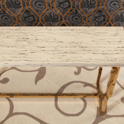 Devon & Claire Archie Stainless Steel Sofa Table